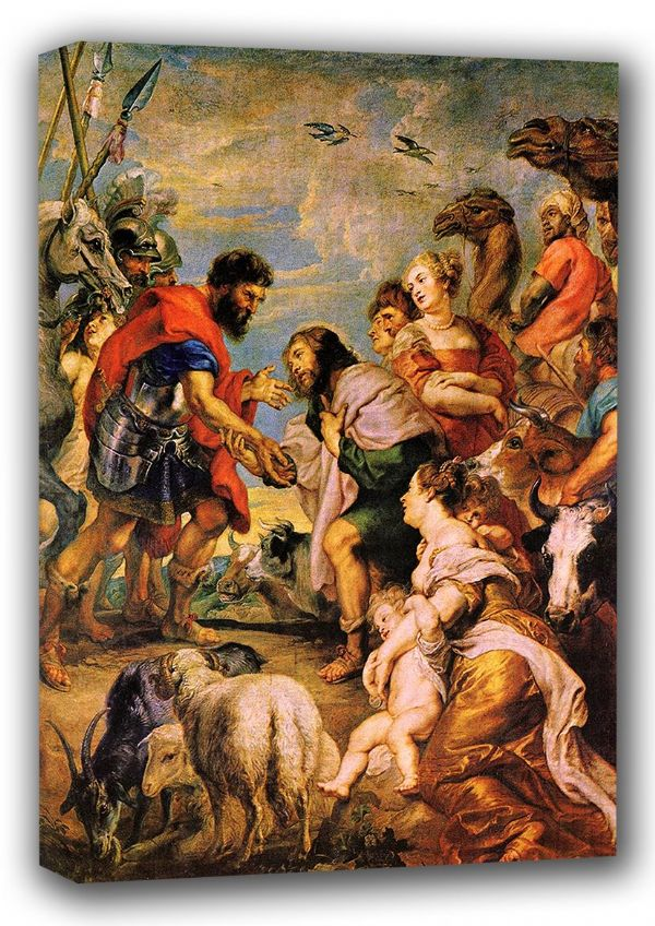 Rubens, Peter Paul: The Reconciliation of Esau and Jacob. Fine Art Canvas. Sizes: A4/A3/A2/A1 (001212)